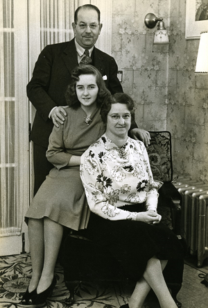 With her Husband Basil and Daughter June.