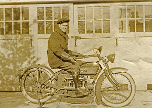 To the chagrin of his mother, friends gave a motorcycle to the young man Ray Crawford.